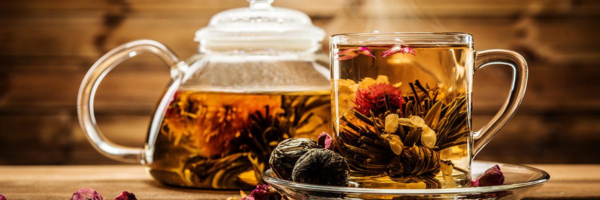 Výběr čajových příchutí