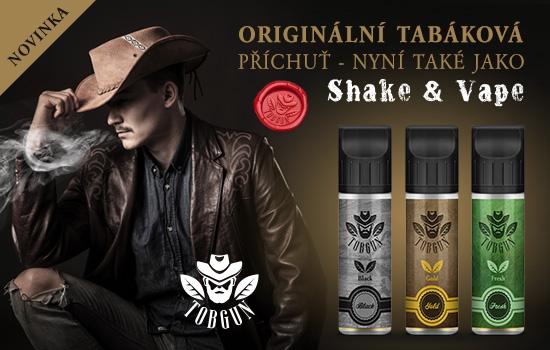 Originální čistá tabáková příchuť nyní i jako Shake and Vape
