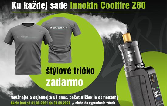 Ku každej sade Innokin Coolfire Z80 len teraz štýlové tričko zadarmo