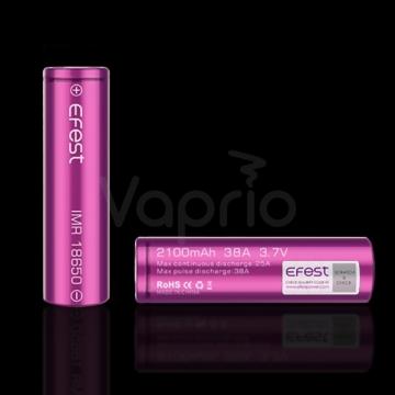 Batéria Efest IMR 18650 - 2100mAh, 38A fialová