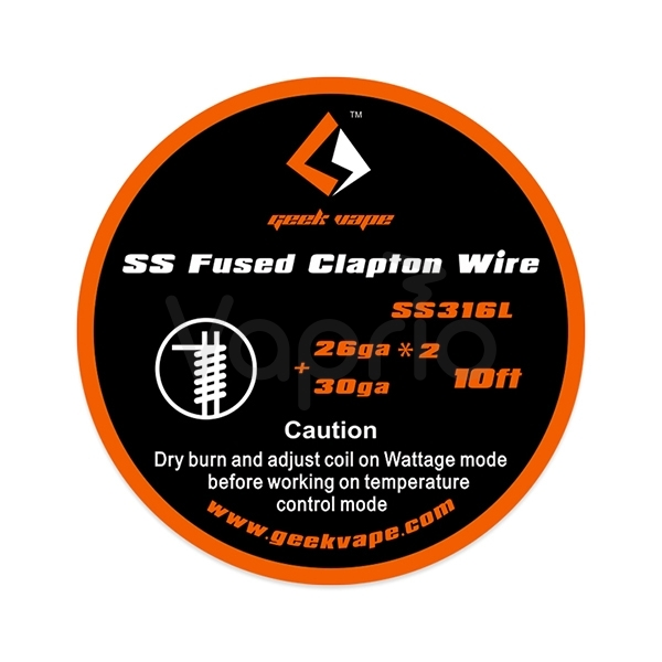GeekVape Fused Clapton SS316 Tape Wire, 3m