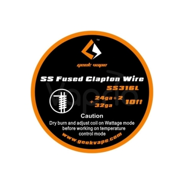 GeekVape SS Fused Clapton Wire, 3m