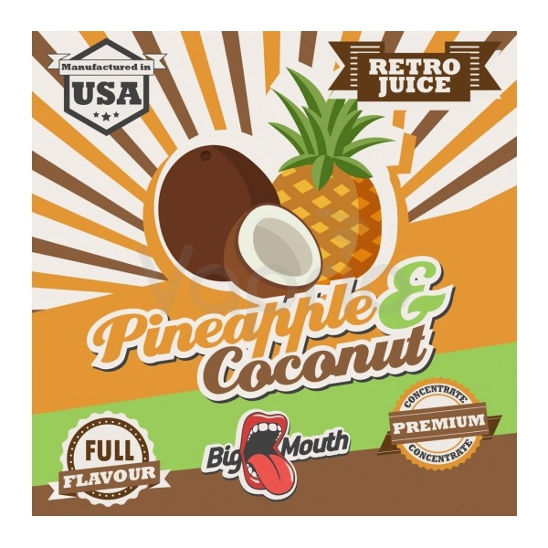 BIG MOUTH - Aroma Retro - Pineapple and Coconut