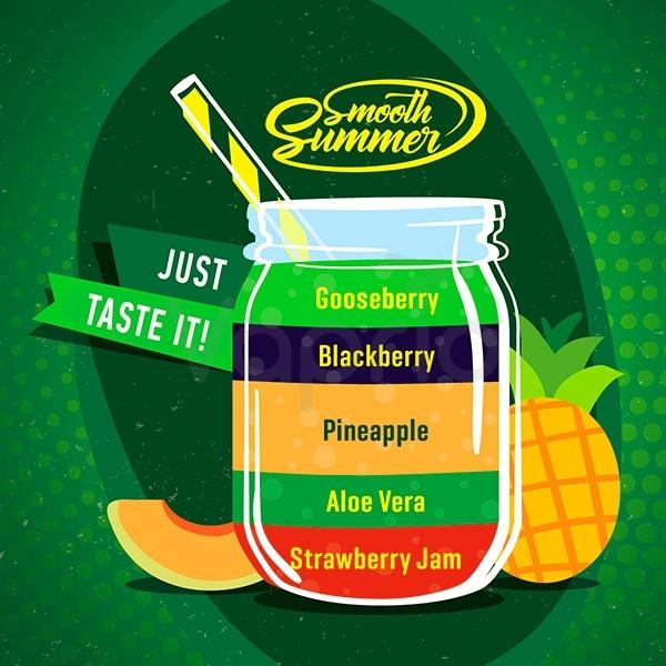 BIG MOUTH - Aroma Smooth Summer - Gooseberry, Blackberry, Pineapple, Aloe Vera, Strawberry Jam