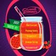 Príchuť Big Mouth Smooth Summer - Granátové jablko a pomarančový sirup (Passion fruit, Orange Syrup, Grapefruit, Pomegranate, Red Currant)
