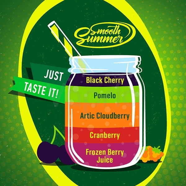 BIG MOUTH - Aroma Smooth Summer - Black Cherry, Pomelo, Arctic Cloudberry, Cranberry, Frozen Berry Juice