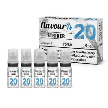 Flavourit STRIKER - 70/30 - Dripper 20mg, 5x10ml