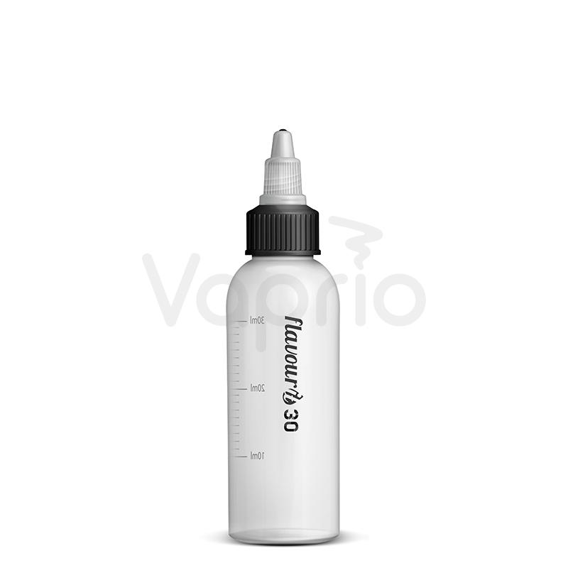 Prázdna fľaštička Flavourit s twist uzáverom a ryskou - 30ml