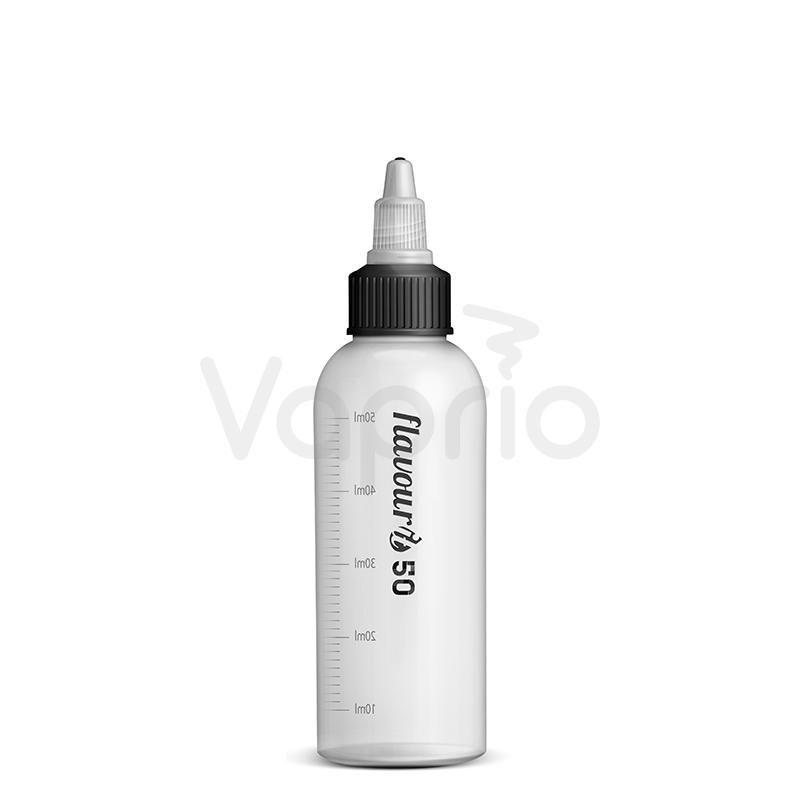 Prázdna fľaštička Flavourit s twist uzáverom a ryskou - 50ml