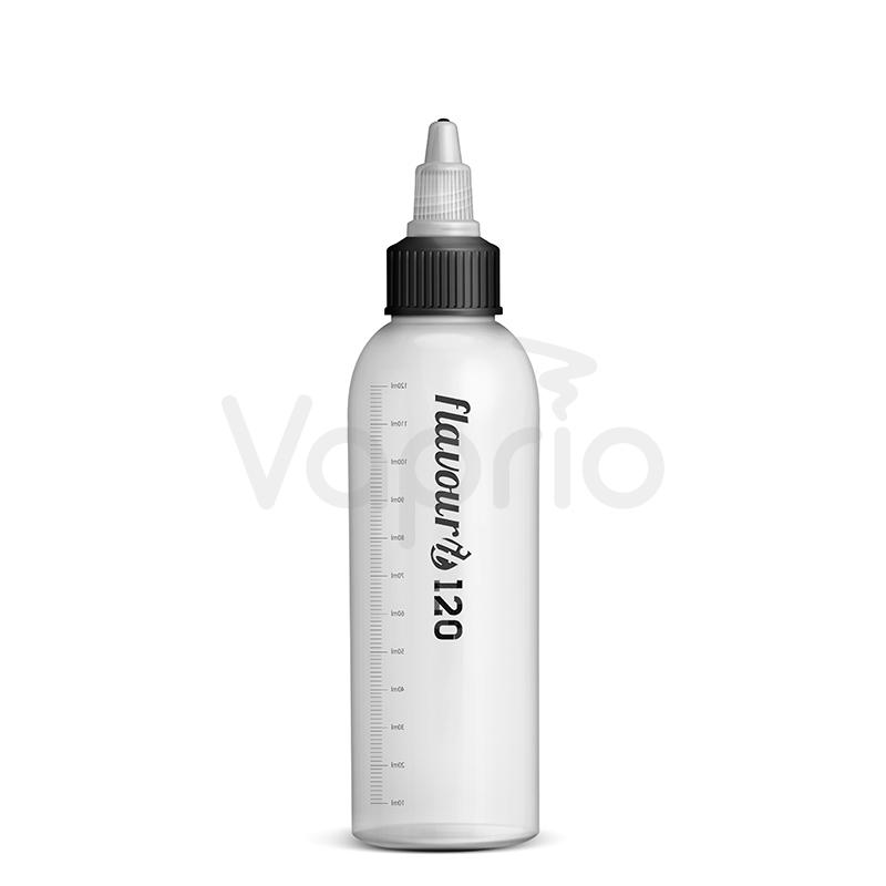 Leere Flasche Flavourit mit Drehverschluß und Strich - 120ml
