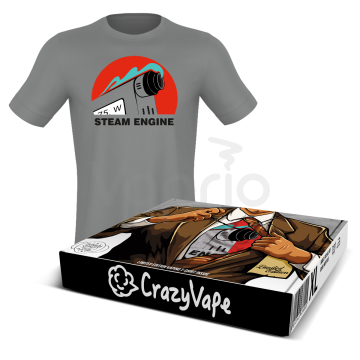 Tričko CrazyVape - Steam Engine